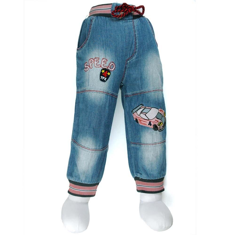 12M-5Y chlapci auta výšivka džíny dítě Denim kalhoty batole Slacks dospívající dítě MH0640