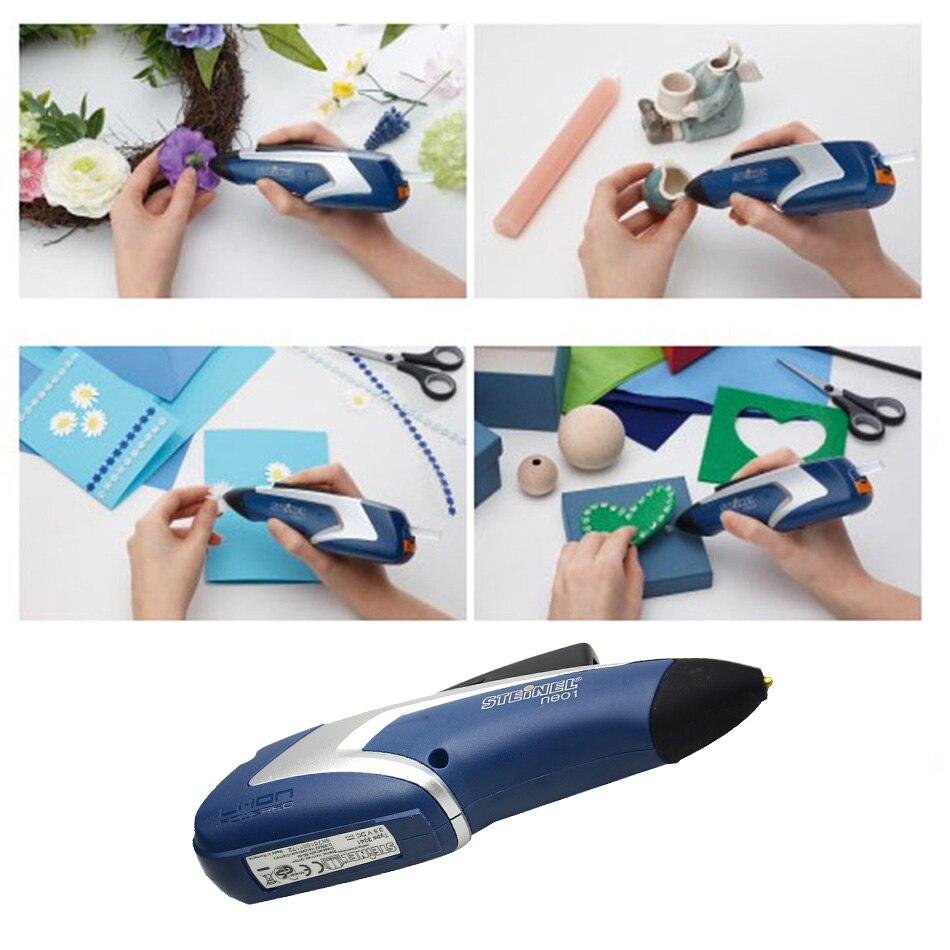 купить NEO1 Germany Mini Portable Rechargeable Cordless Hot Melt Glue Gun Handwork Repair Tools Handicrafts for Kids Glue Pen по цене 5085.36 рублей