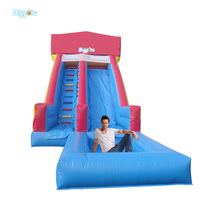 Summer Sports Games Inflatable Slide With Pool For Kids And Adults