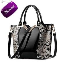 Aliwood Neue Europa Stickerei Luxus Handtaschen Frauen taschen Designer Marken Tote Damen Leder Schultertasche Weibliche Crossbody Taschen