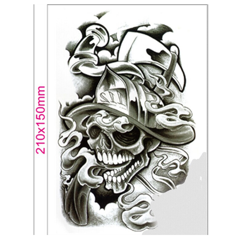 blue zoo hot new 3d waterproof stickers tattoo temporary skull head number 22 in temporary. Black Bedroom Furniture Sets. Home Design Ideas