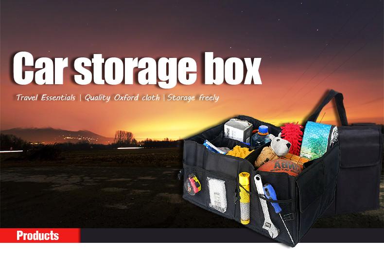 Auto Supplies Car Back Folding Storage Box Multi-Use Tools Organizer Car Portable Storage Bags Black 9