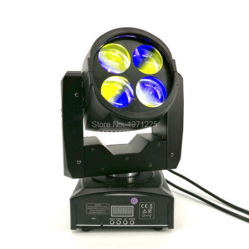 4x10W Mini Led Moving Head Multicolors LED Beam Moving DJ Party Stage Head Lights DMX 14/16 Channels Good Quality