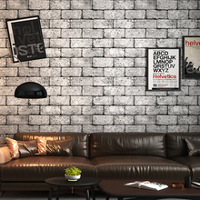 Vintgae 3D Grey Brick Wallpaper Vinyl Waterproof Wall Paper Roll for Shop Bar Background Walls contact paper carta da parati цены онлайн