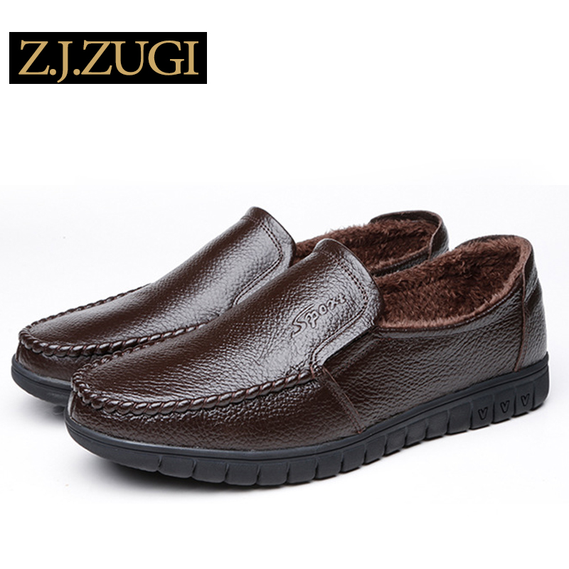 ZJZUGI 2018 New Comfortable Casual Shoes Loafers Men Shoes Quality Leather Shoes Men Flats Hot Sale 80663 top brand high quality genuine leather casual men shoes cow suede comfortable loafers soft breathable shoes men flats warm
