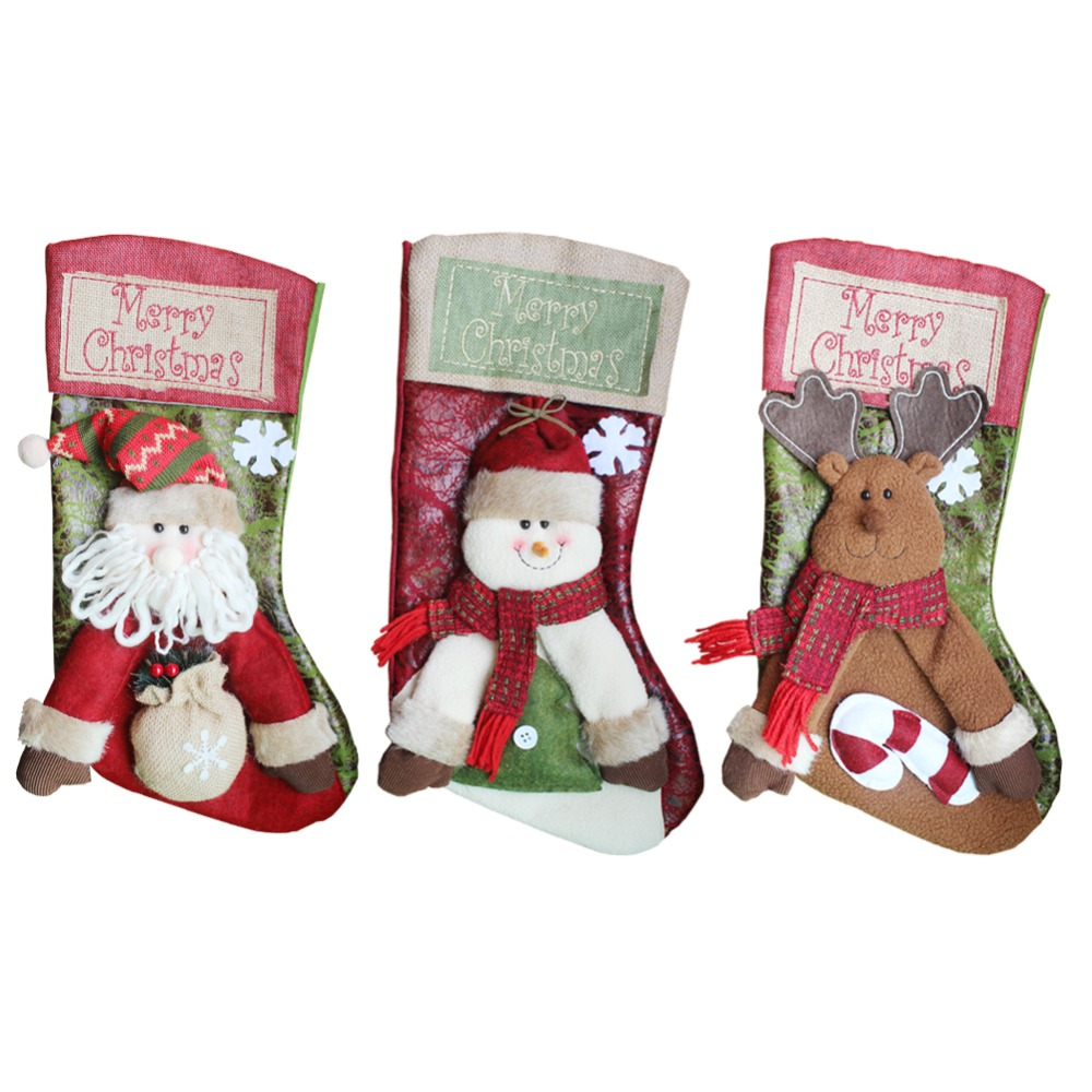 reindeer high end stereo christmas stocking christmas home decorations santa snowman stockings. Black Bedroom Furniture Sets. Home Design Ideas