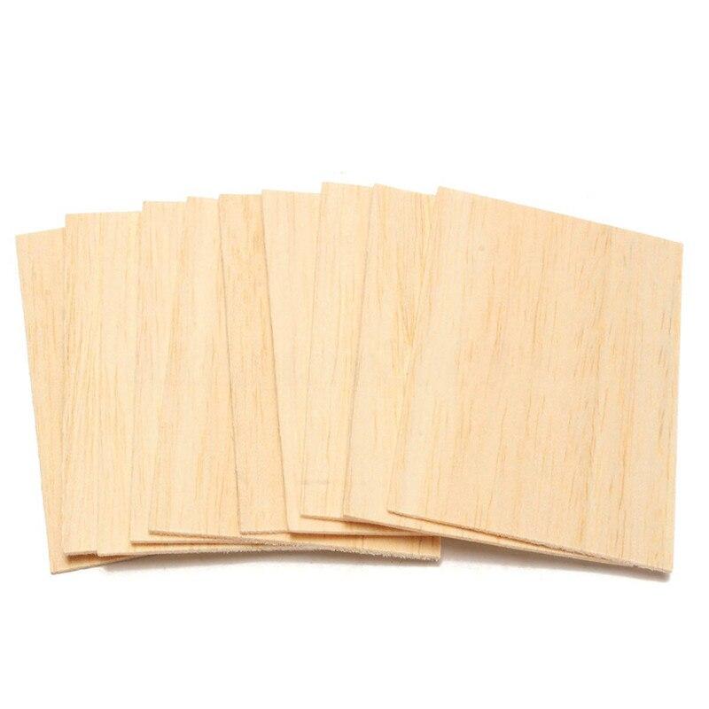10Pcs Balsa Wood Sheets Wooden Plate 150*100*2mm For House Ship Craft Model DIY