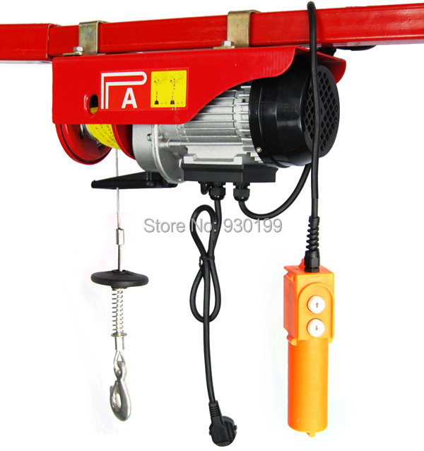 Mini Electric Hoist Capacity 500KG/1000KG 12M cable wire rope hoist ...