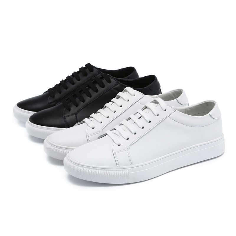 b73c5633 ... Мужская обувь повседневные белые сникерсы мужские люксовые брендовые  Большие размеры натуральная кожа плоская обувь для катания