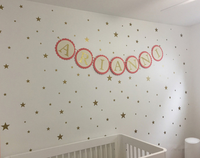 Gold Star Wall Decal (150 pcs in 3 sizes)