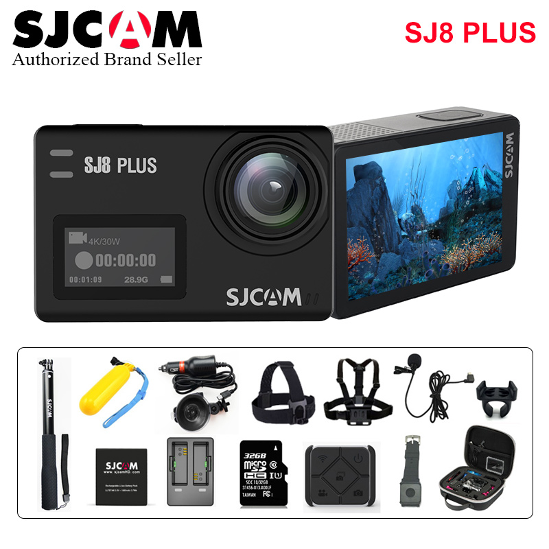 Original SJCAM SJ8 Plus Stabilizer Action Camera 4K Wifi Waterproof Sport Action Cam Touch Screen Remote Video Camera HD DVR Car 2017 arrival original eken action camera h9 h9r 4k sport camera with remote hd wifi 1080p 30fps go waterproof pro actoin cam