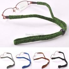 Atacado 20 pcs cabo de óculos esporte ao ar livre óculos de sol de esportes elástico banda ajustável