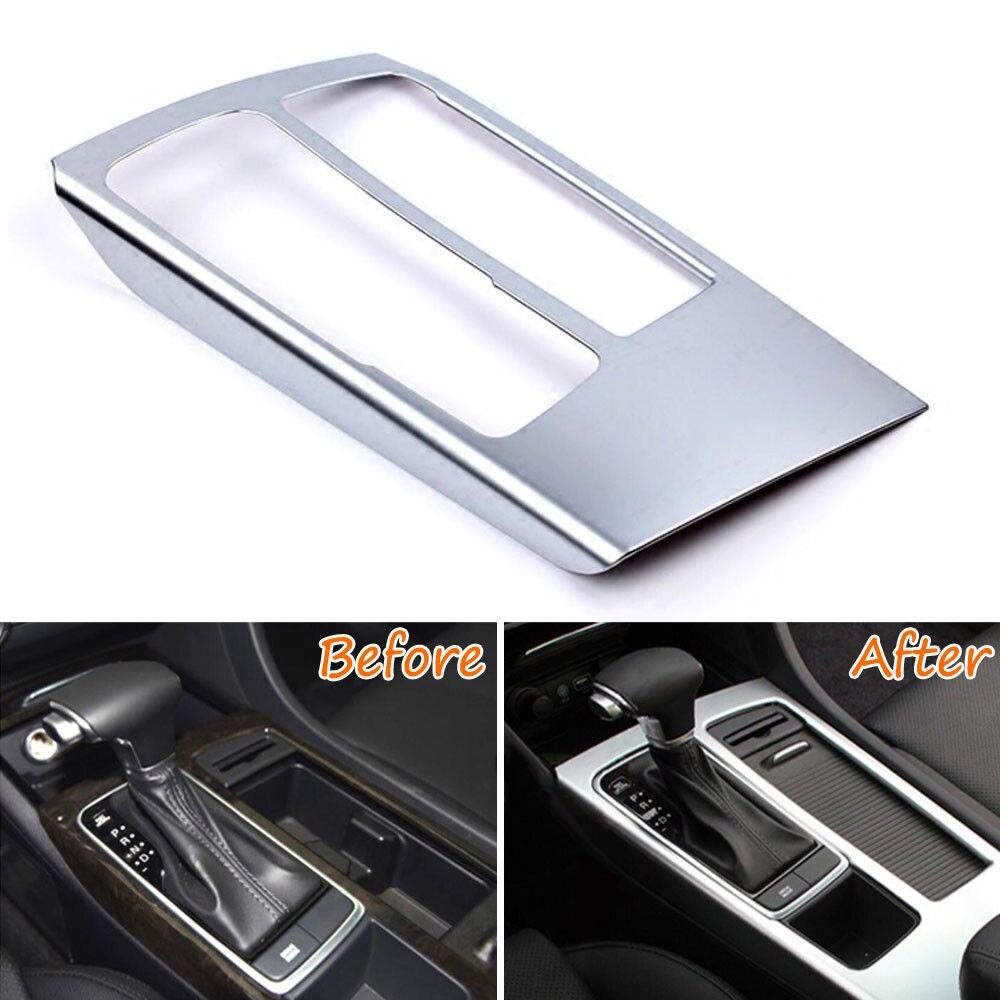 For Kia Optima K5 Car-Styling Console Gear Shift Box Cover Trim Interior Decor Chrome Moldings Car Covers Accessories 2016 2017