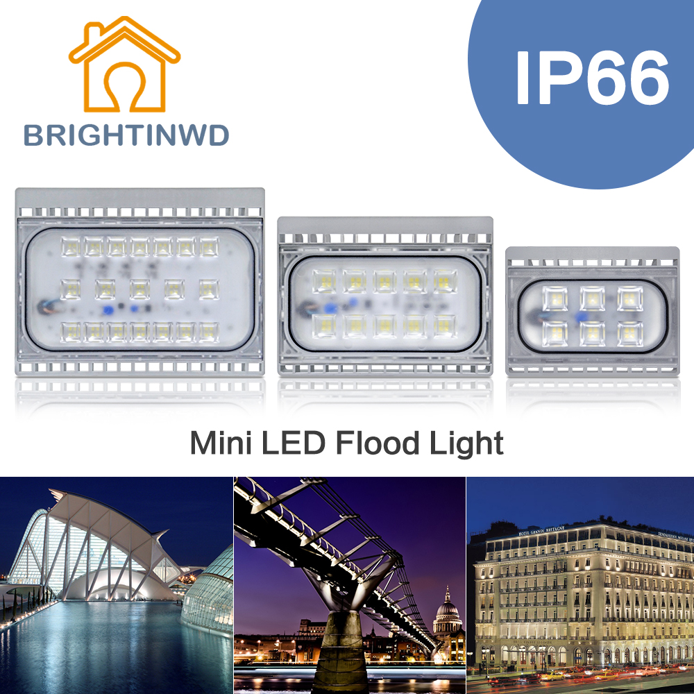 Led flood light 50w 30w 20w floodlight ip66 waterproof for Focos led exterior 50w