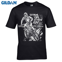 GILDAN  fashion brand t shirt O-neck Fashion Casual High Quality Print T Shirt Motocross Extreme Fun Mx   T-shirt