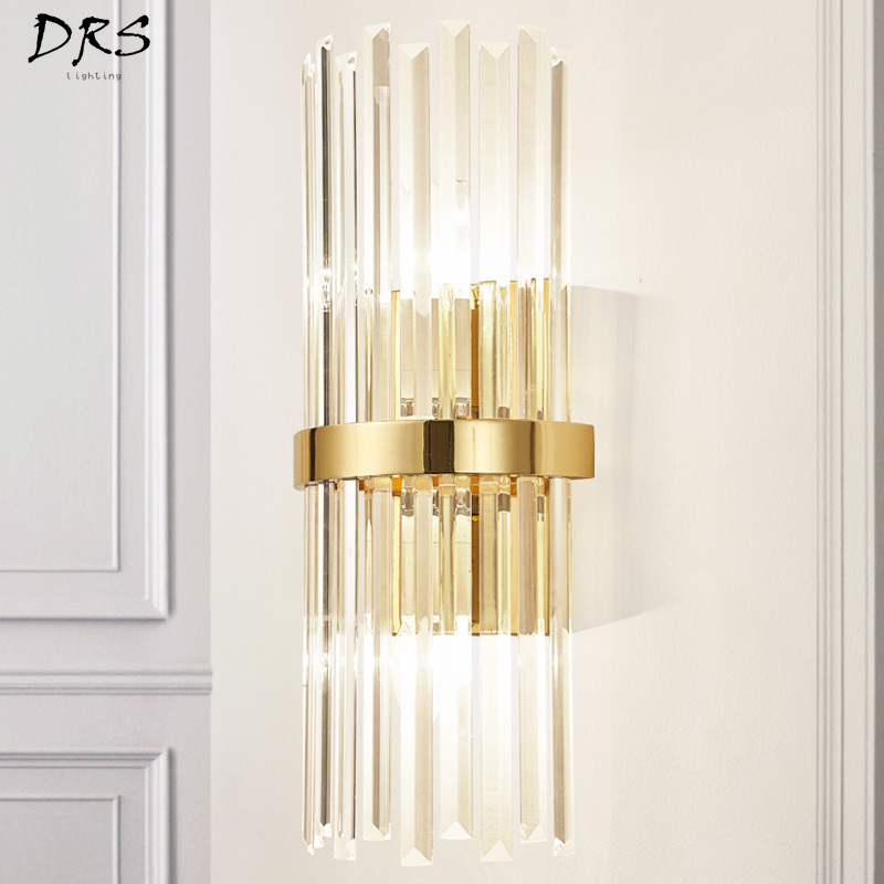 American Luxury Crystal Wall Lamp Modern Simple Living Room Bedroom Bedside Lamp Decor Home Wall Sconce Light Fixture LuminariaAmerican Luxury Crystal Wall Lamp Modern Simple Living Room Bedroom Bedside Lamp Decor Home Wall Sconce Light Fixture Luminaria