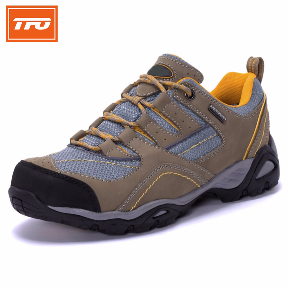 TFO brand hiking shoes men outdoor shoes trekking breathable climbing hunting fishing waterproof leather man male hiking shoes tfo men hiking shoes outdoor sport shoes men climbing mountain sneakers trekking hunting fishing breathable waterproof man brand