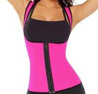Zipper Style Ladies Sports Sweat Vest Slimming Body Sculpting Clothing Neoprene Rubber Waist Corset
