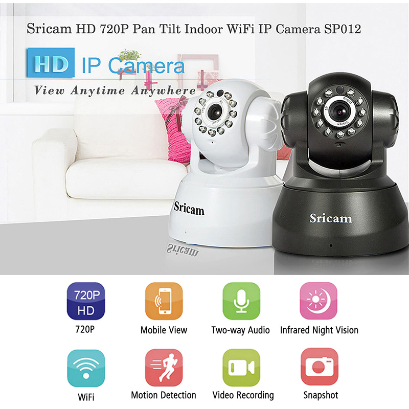 Sricam SP012 HD IP Camera Mini Wireless Surveillance Camera WiFi Smart Home Security Cam Baby Monitor CCTV Camera цена
