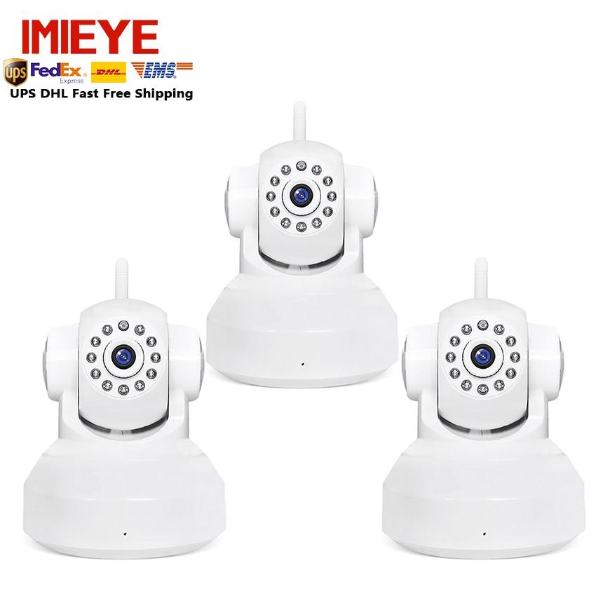 IMIEYE 3pcs/lot 720p Onvif p2p wireless ip camera wifi HD 1mp Night Vision 15m H.264  IR-Cut Onvif cctv security Network ipcam