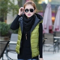 AFRS2014 new winter coat thicker vest female vest ladies fashion casual cotton hooded vest