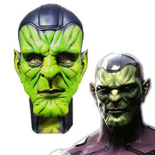 2019 Movie Captain Marvel Skuru Talos Cosplay Face Masks Latex Alien Full Head Adult Unisex Props Party Halloween Fancy Dress(China)