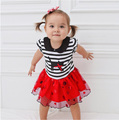 Baby Clothing2016New,Summer Birthday Tutu Dress,Striped Baby Body Comfortable Princess Dress Wedding Dress Girl Princess Costume