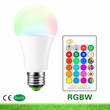 LED lamp AC85-265V E27 RGB LED Bulb 3W 5W 10W RGBW Dimmable LED Smart Lights Multiple Colour With Remote Control Led Lighting hotook led bulbs lamp e27 lampada light 3w 5w 10w rgb dimmable lighting bombillas lamparas ampoule spotlight ball remote control