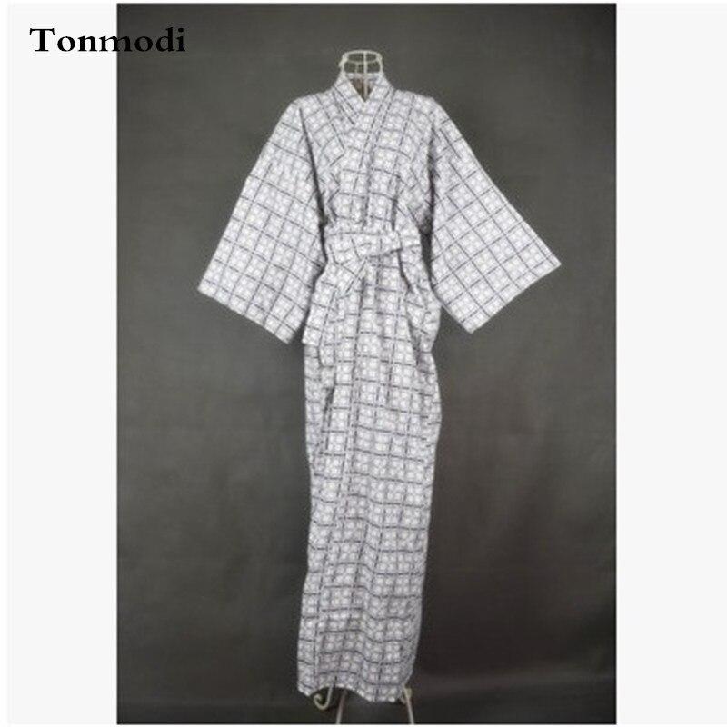 Dámské pyžamo šaty kimono Pánské noční košile Dlouhé košile Kimono Noční košile Bavlněná tkaná Dvojitá gáza Dlouhé roucho Pár roucho