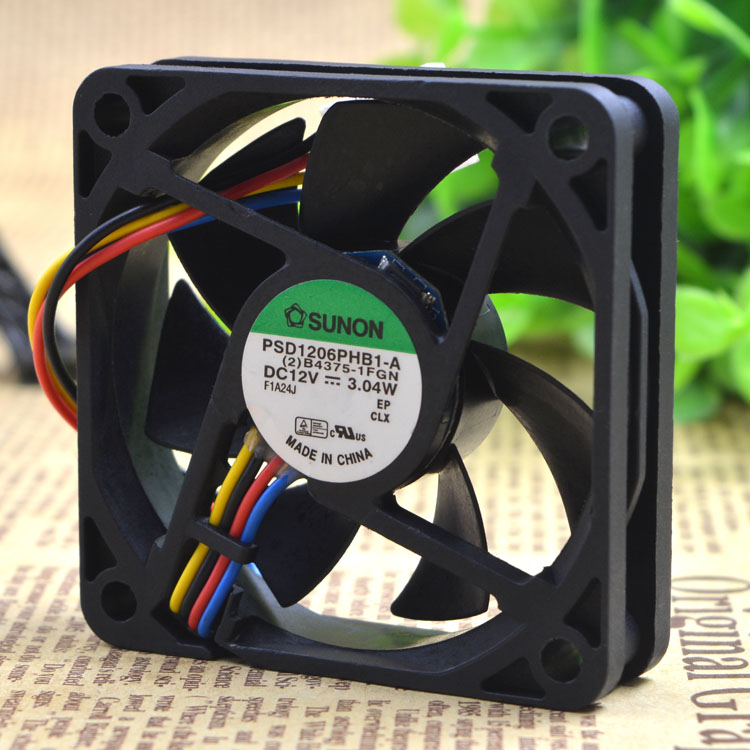 AVC Free Shipping Genuine SUNON PSD1206PHB1-A 12V 3.04W 6015 <font><b>60</b></font>*<font><b>60</b></font>*15 <font><b>mm</b></font> axial case cooling <font><b>fan</b></font> image