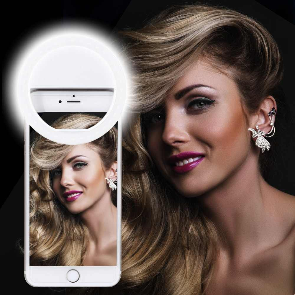 MACTREM Selfie Lamp light 36LED flash Camera Phone Photography Dimmable Ring Light  Clip lamp Live light
