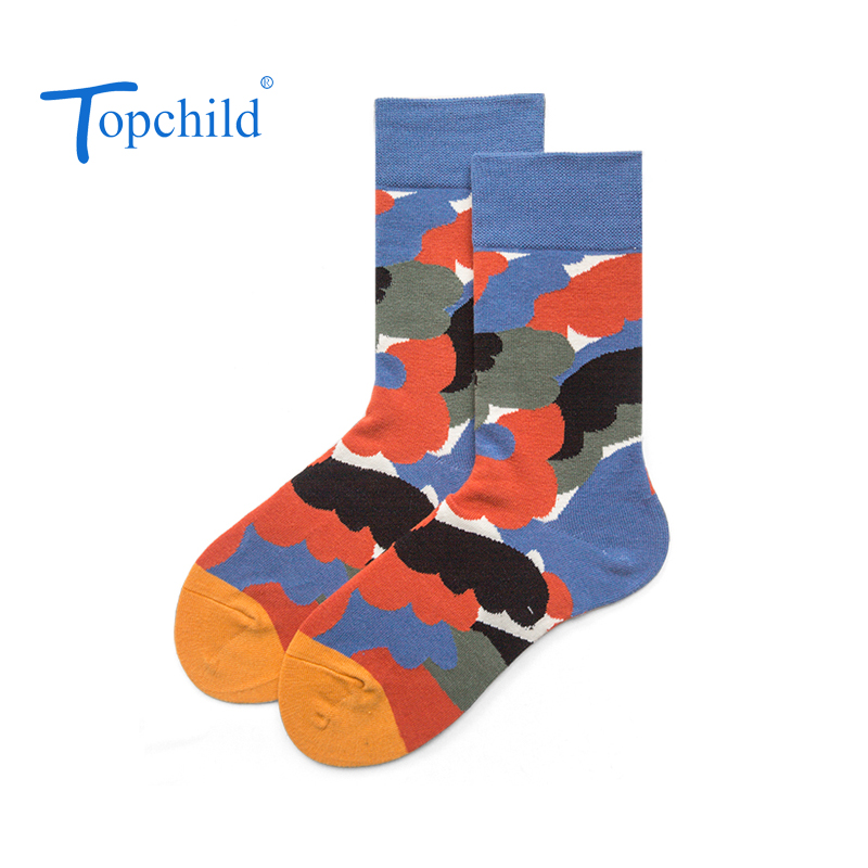 Topchild funny camouflage autumn leaves Winter Thick Warm Jacquard Socks Casual Hombre comfortable high quality big size in Men 39 s Socks from Underwear amp Sleepwears