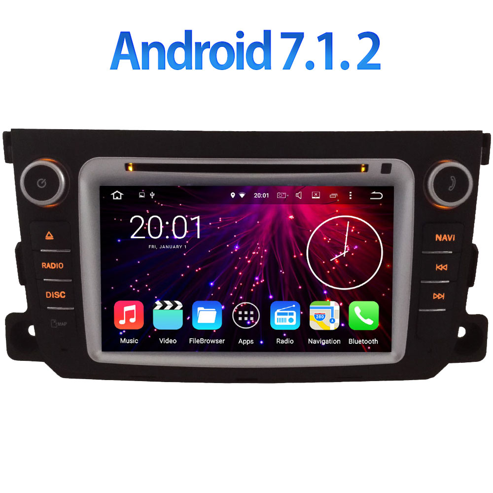 Android 7 1 2 WIFI Quad Core GPS Navigation 7 Car DVD Multimedia player radio for