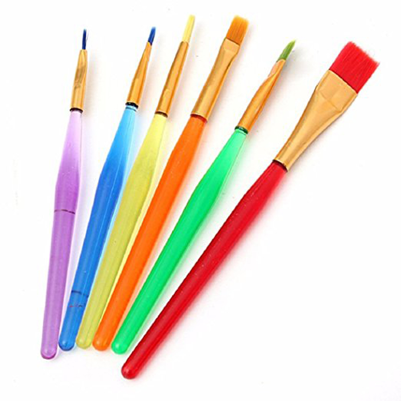 Candy Colors Brushes Translucent Handles Shed Proof Painting Artist Brushes Clay Colored Brushes Playdough Colored Brush