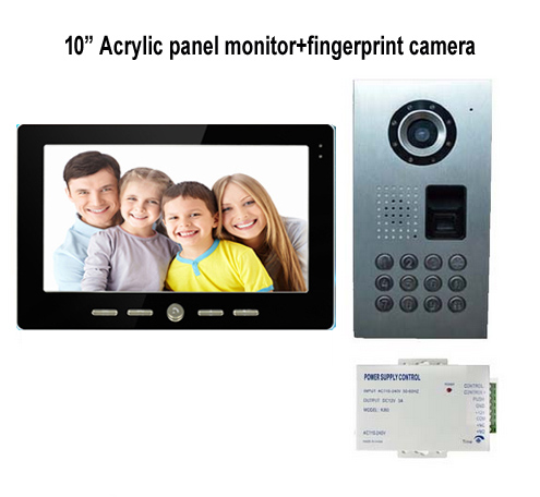 SMTVDP Villa Intercom System New Arrival 10Video Door Phone,HD IR Metal Camera,fingerprint/Password unlock function in stock