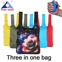 Playking животных печати рюкзак женщины школьные рюкзаки дорожная сумка складная нейлон Туризм Отдых сумка водонепроницаемый открытый человек