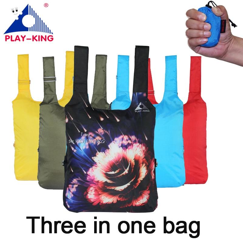PLAYKING animal printing backpack women school backpacks travel bag foldable nylon hiking camping bag waterproof outdoor man