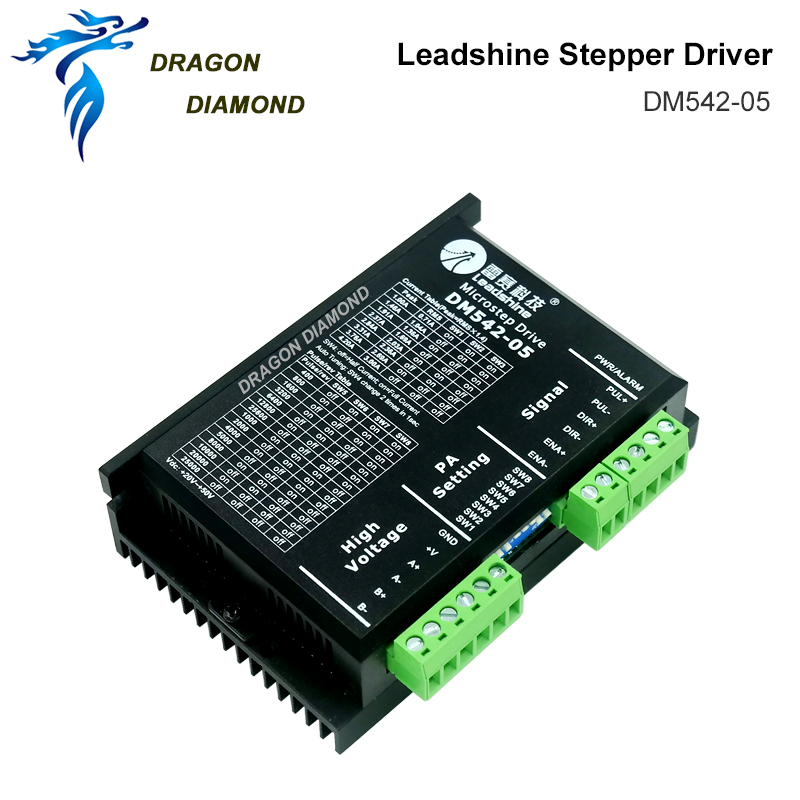 DRAGON DIAMOND Leadshine 2 Phase Stepper Driver DM542 20 50VAC 1.0 4.2A Free Shipping FROM GUANGZHOU CHINA|driver|driver stepper|driver leadshine - title=