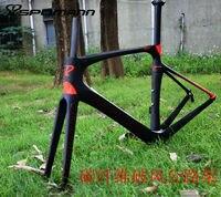 Newest 3 Colors SPOMANN Racing 700C Road Bike Matte UD Full Carbon Fibre Bicycle Frames Fork