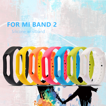Mi Band 2 Strap Silicone Replace for xiaomi mi fitness Bracelet bracelet miBand colorful Acc