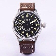 滅菌 44 ミリメートル発光 6497 巻 ST3600 運動マニュアル機械腕時計ガラス 316L ss 機械 wristwatche