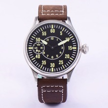 Sterile 44mm Leucht 6497 Handaufzug ST3600 Bewegung Manuelle Maschinen Uhr männer Sapphire Glas 316L SS mechanische wristwatche