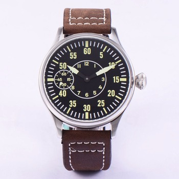 Sterile 44mm Luminous 6497 Hand Winding ST3600 Movement Manual Machinery Watch men Sapphire Glass 316L SS mechanical wristwatche 44mm parnis off white dial rose golden plated hands brown leather strap 6497 movement leather strap hand winding men s watch