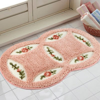 Actionclub PVC Mesh Coral Fleece Outdoor Mats Bathroom Home Area Rugs Water Bath Accent Rugs Anti
