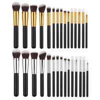 15pcs Makeup Brushes Powder Foundation Eyeshadow Concealer Eyeliner Lip Brush Tool Premium Kit Set 88 YF2017