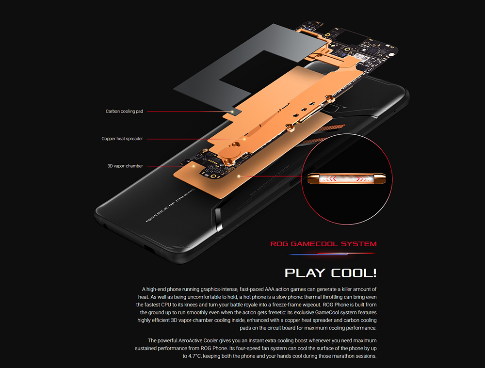 "ASUS ROG Telephone ZS600KL 8GB RAM 128GB ROM Gaming Phone Snapdragon 845 2.96GHz 6.0""18:9 AMOLED Screen Android8.1 4000mAh OTA 48"