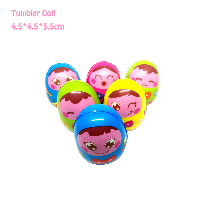 Kawaii Facial Expression Musical Tumbler Doll Baby Rattles Toys Gifts Early Childhood Educational Baby Toys Boys Girls