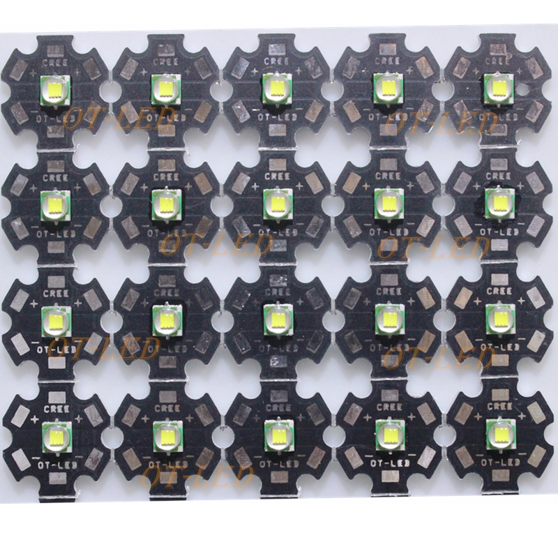 5PCS CREE XML XM-L T6 LED U2 10W WHITE Warm White High Power LED Emitter Diode with 12mm 14mm 16mm 20mm PCB for DIY