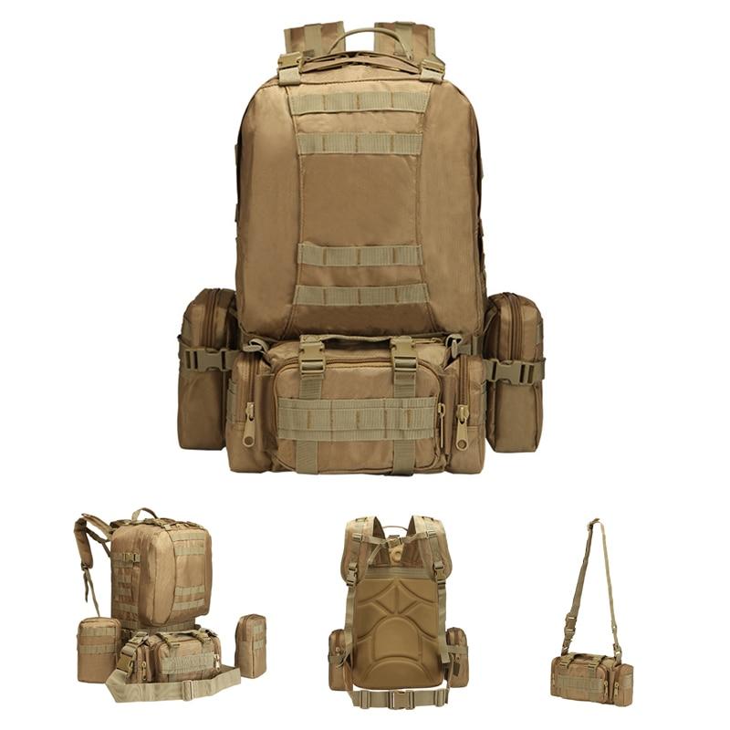 Utilitaire 4 en 1 militaire tactique sac à bandoulière détachable Molle sac à dos de chasse avec sac de taille sac de premiers secours sac à dos armée