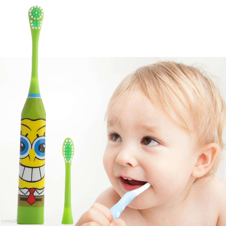 Cartoon Printed Electric Toothbrush kids Dental Care Gum Massage Tools Waterproof Children Toothbrush Teeth Whitening ultra soft children kids cartoon toothbrush dental health massage 1 replaceable head outdoor travel silicone retractable folding